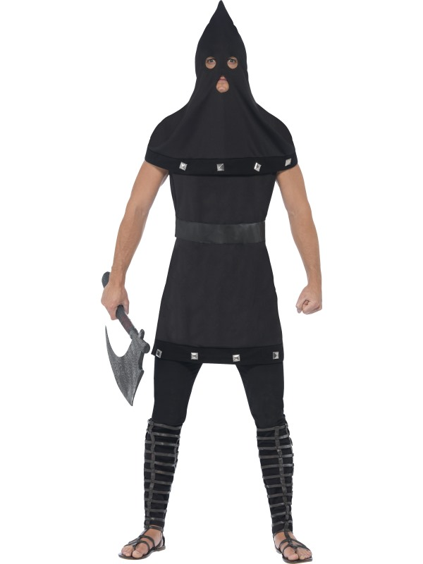 Adult Evil Dungeon Executioner Mens Halloween Horror Fancy Dress Costume Outfit