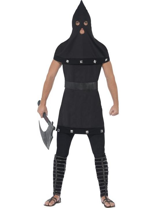 Adult Evil Dungeon Executioner Mens Halloween Horror Fancy Dress Costume Outfit Thumbnail 1