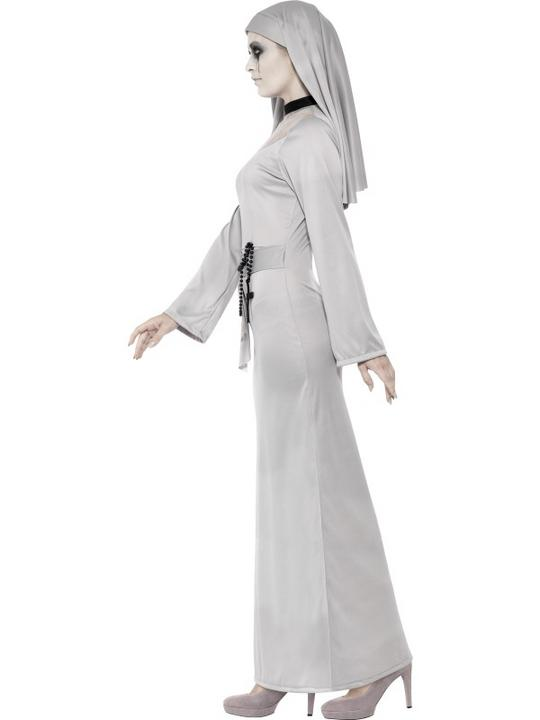 Adult Sexy Ghostly Gothic Zombie Nun Ladies Halloween Fancy Dress Costume Outfit Thumbnail 3