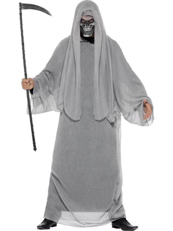 SALE! Adult Grim Death Reaper Mens Halloween Horror Fancy Dress Costume Outfit