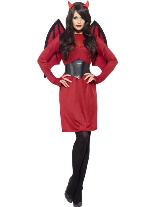 SALE! Adult Sexy Red Devil Ladies Halloween Party Fancy Dress Costume Outfit Thumbnail 1