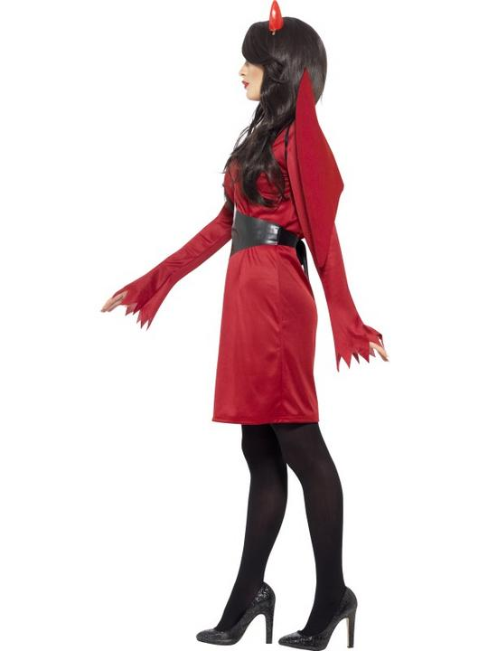 SALE! Adult Sexy Red Devil Ladies Halloween Party Fancy Dress Costume Outfit Thumbnail 2