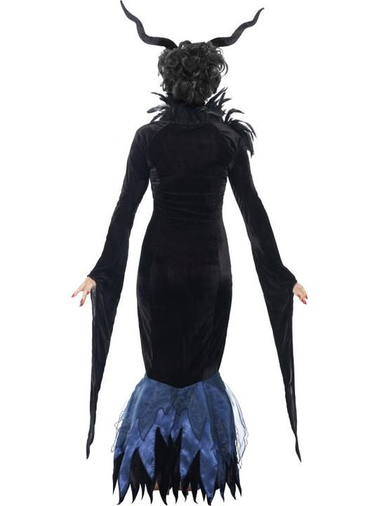 Adult Sexy Maleficent Raven Ladies Halloween Party Fancy Dress Costume Outfit Thumbnail 2