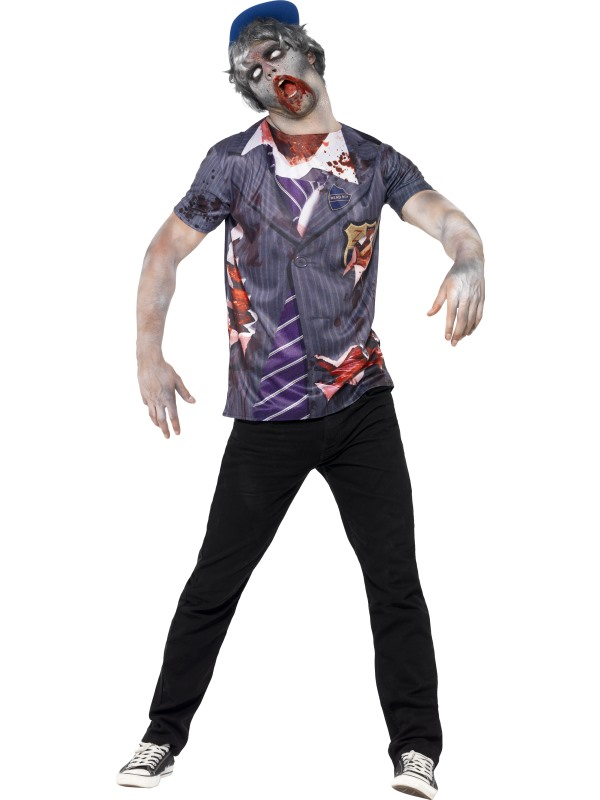 Mens Zombie School Boy Set