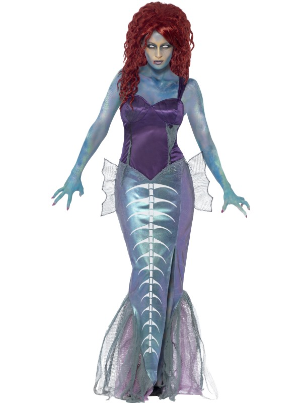 SALE! Adult Zombie Mermaid Ladies Halloween Party Fancy Dress Costume Outfit