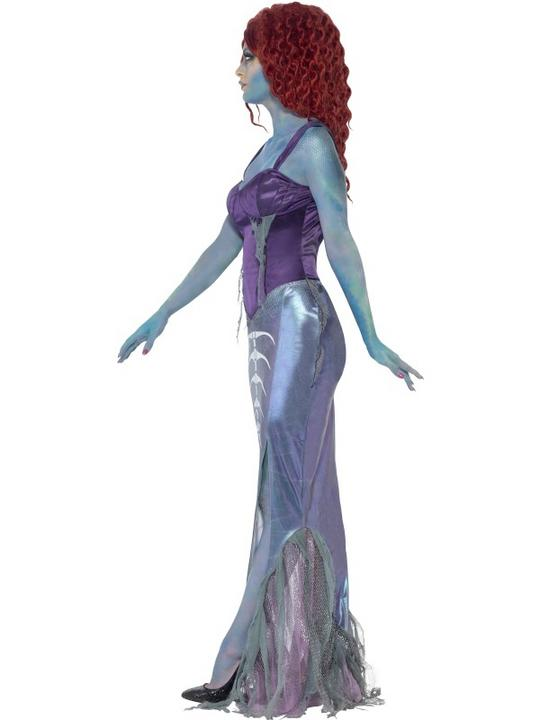 SALE! Adult Zombie Mermaid Ladies Halloween Party Fancy Dress Costume Outfit Thumbnail 3