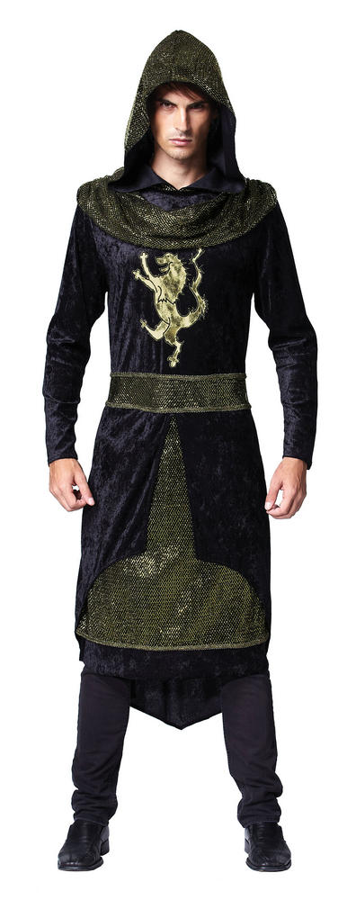 SALE! Adult Medieval Dark Prince Mens Halloween Party Fancy Dress Costume Outfit