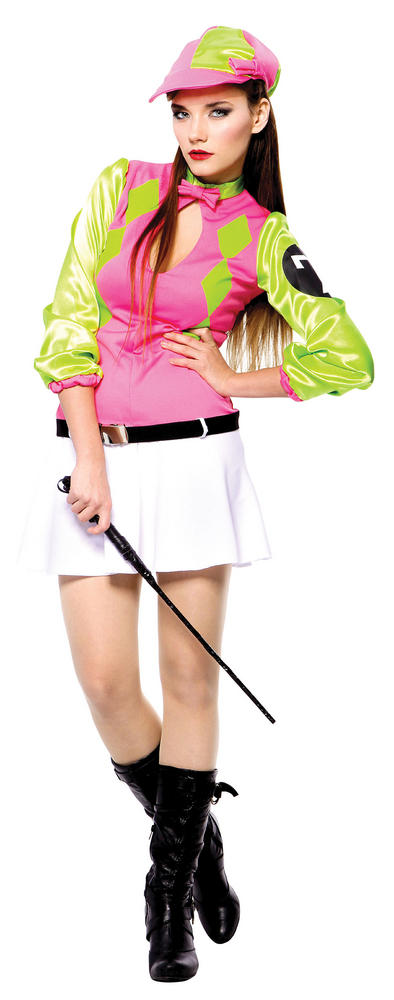 SALE! Adult Sexy Horse Riding Jockey Ladies Fancy Dress Hen Party Costume Outfit