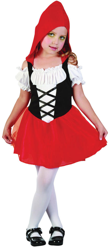 Kids Red Riding Hood Sweetie Girls Book Week Fancy Dress Toddler Costume Outfit