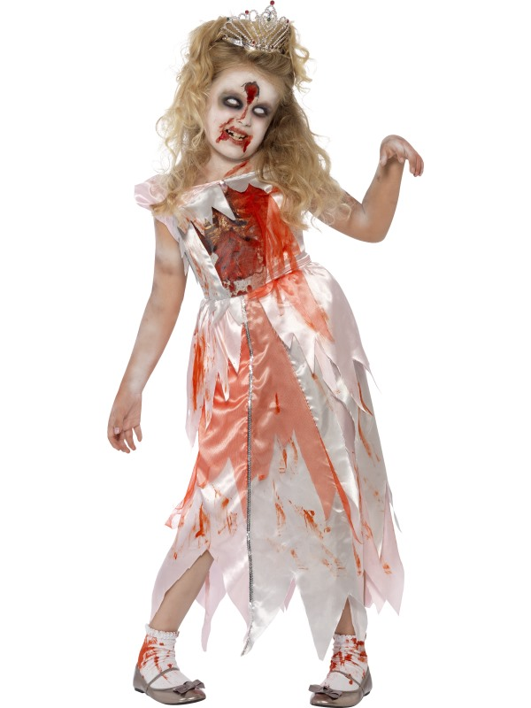 Kids Living Dead Zombie Sleeping Princess Girls Halloween Fancy Dress Costume