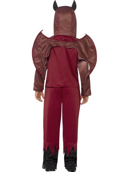 Boys Halloween Deluxe Devil Costume Kids Horror Fancy Dress Outfit Thumbnail 2
