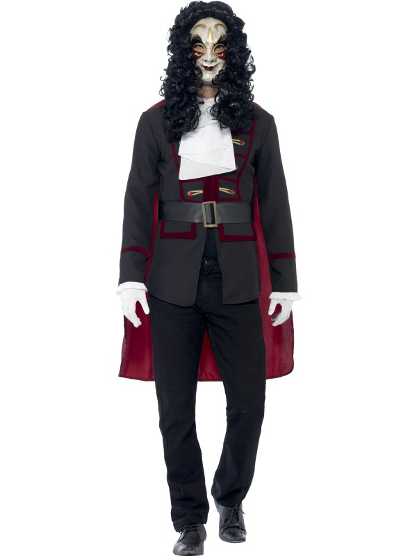 SALE! Adult Venetian Masked Highwayman Mens Halloween Fancy Dress Costume Outfit