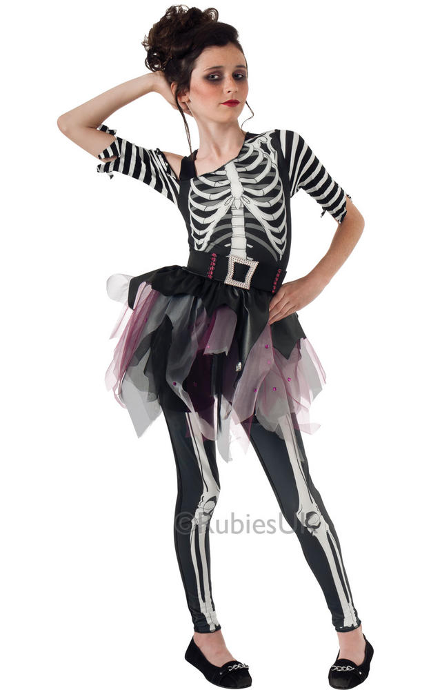 Girls Skellee Ballerina Costume