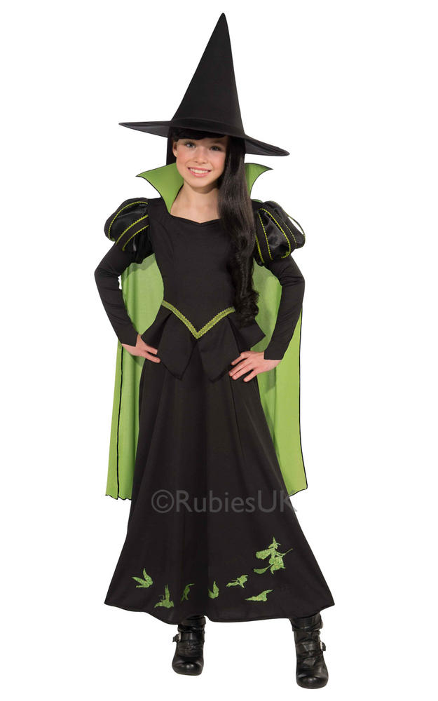 Girls Wicked Witch of the west Costume Wizard of Oz Licensed Fancy Dress story