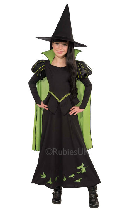 Girls Wicked Witch of the west Costume Wizard of Oz Licensed Fancy Dress story  Thumbnail 1