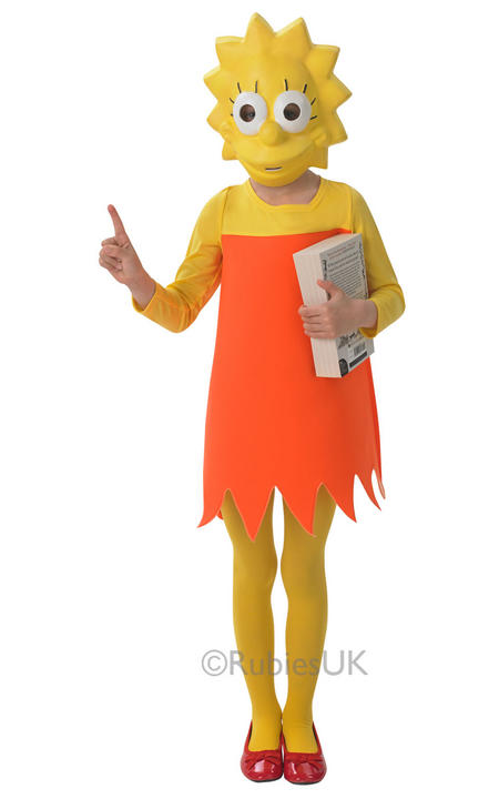Girls Lisa Simpson Costume  Thumbnail 1
