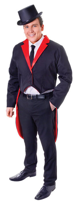 Mens Tailcoat Black/Red Thumbnail 2