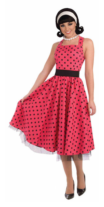 Adult Pretty in Polkadots Costume Thumbnail 1