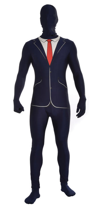 Adult Business Suit Disappearing Man Costume Thumbnail 1