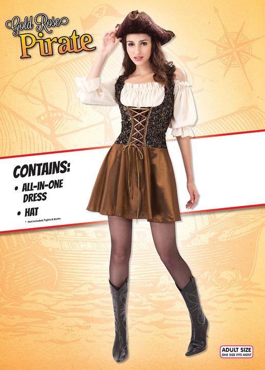 Pirate Gold Rose Costume Thumbnail 1