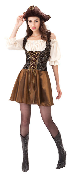 Pirate Gold Rose Costume Thumbnail 2