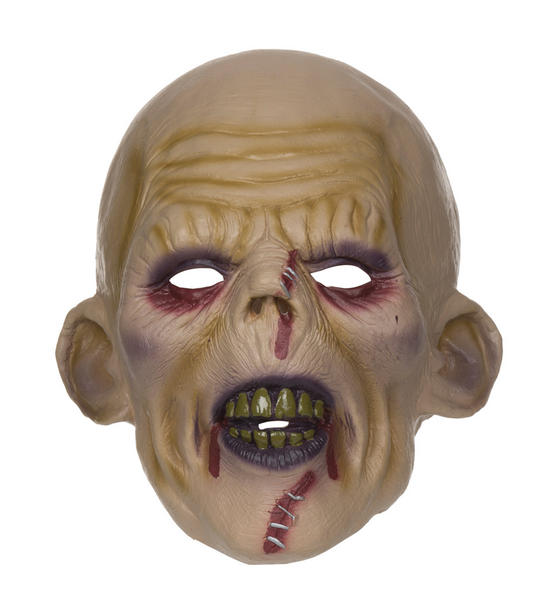 Mens Horror Zombie Stitched Halloween Face Mask Fancy Dress Accessory Thumbnail 1