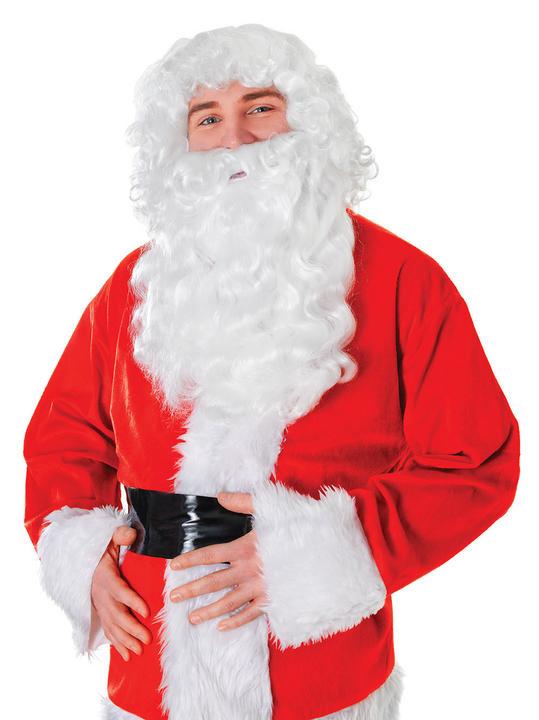 Santa Wig + Long Bread. White Thumbnail 2