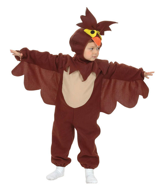 Kids Wise Old Owl Girls / Boys Book Week Fancy Dress Toddler  Costume Outfit Thumbnail 1