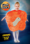 Kids Giant Peach + Worm Girls / Boys Book Week Fancy Dress Childs Costume Outfit