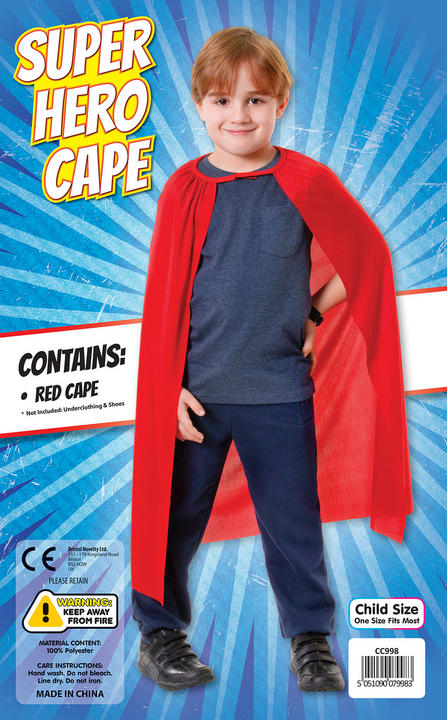 Superhero Cape. Red Thumbnail 1
