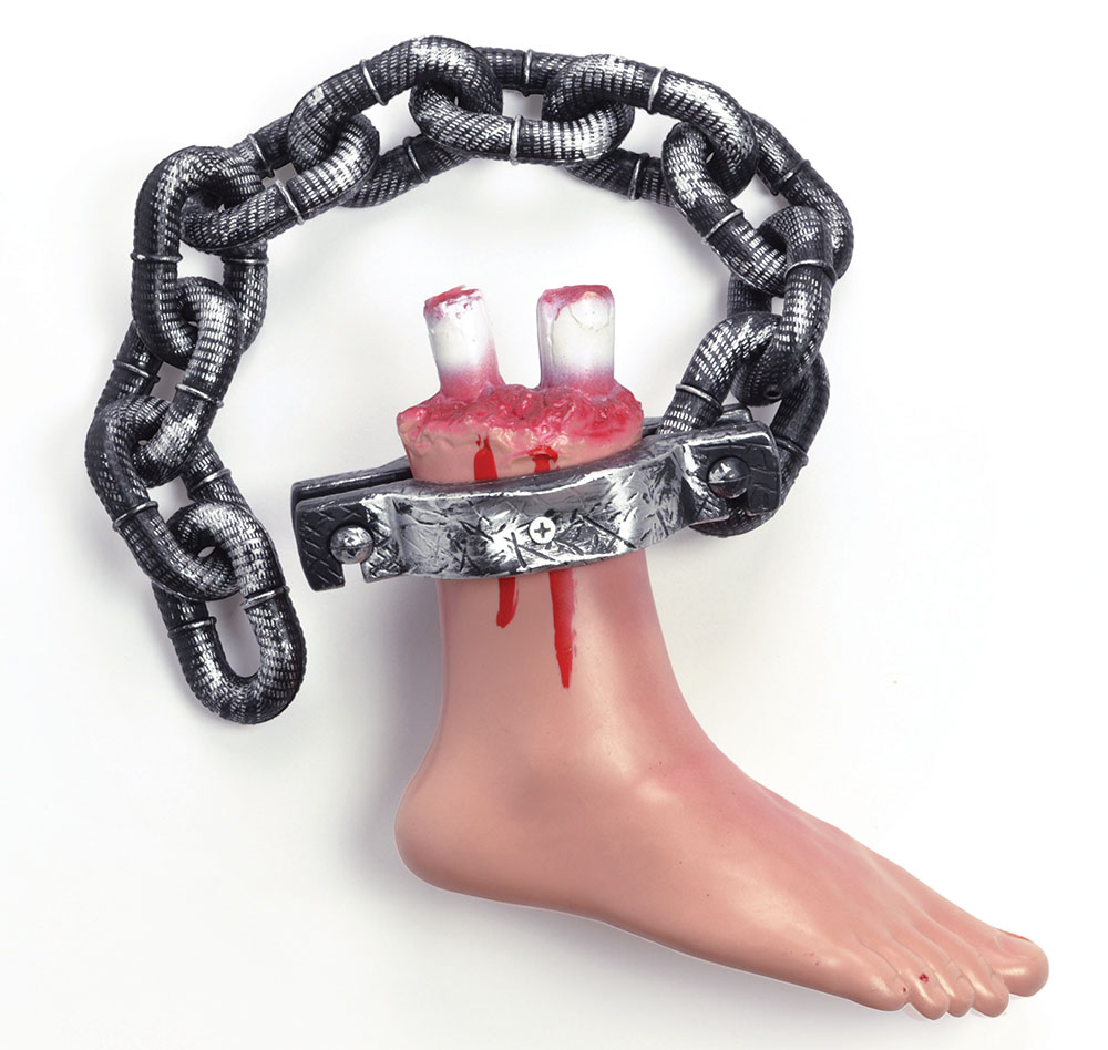 Bloody Foot On Chain