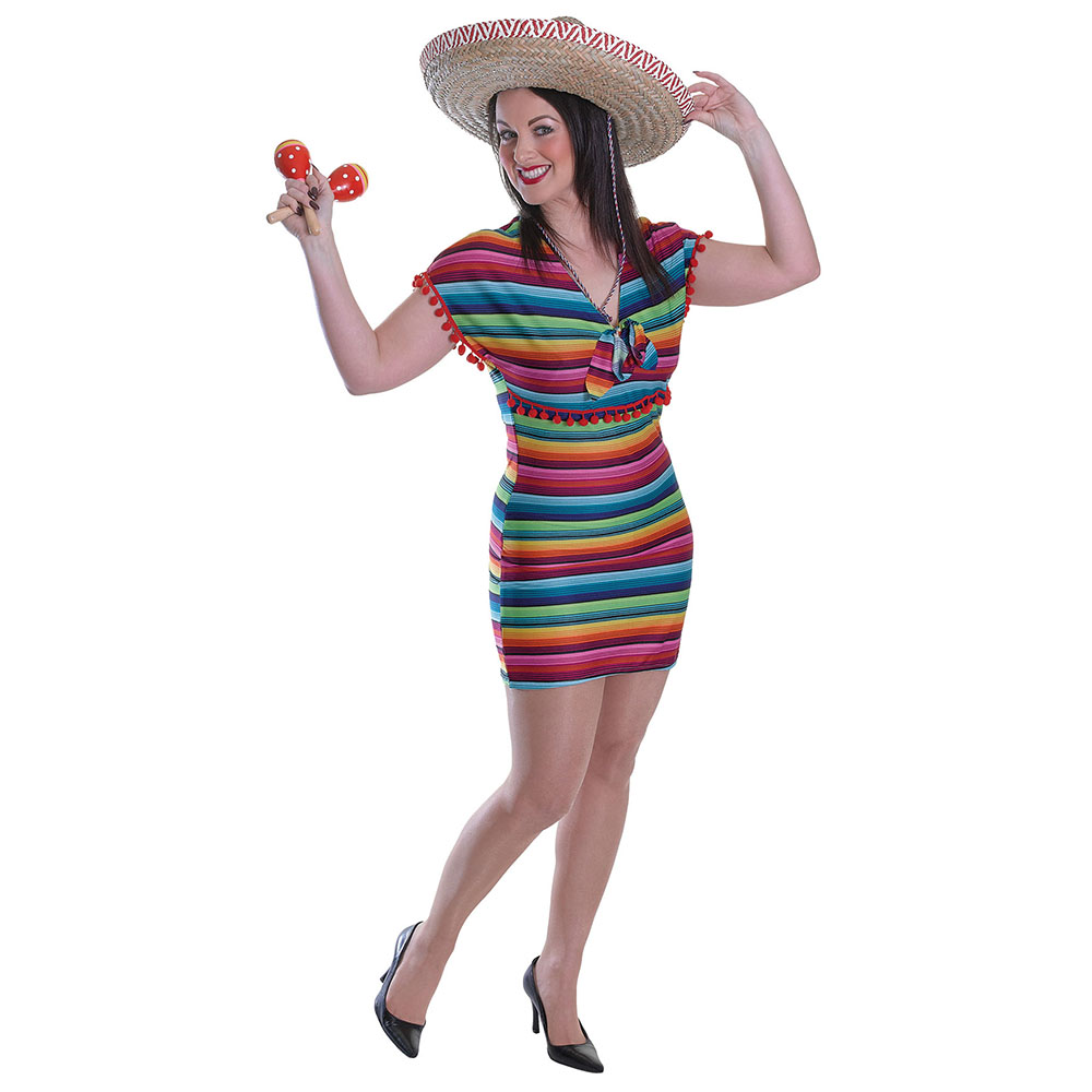 Mexican Tequila Ladies Fancy Dress Costume Hen Party Outfit Adult Sexy Wild West