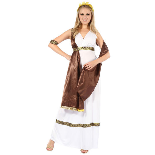 Greek Roman Goddess Toga Womens Fancy Dress Costume Outfit Ladies Adult Thumbnail 1