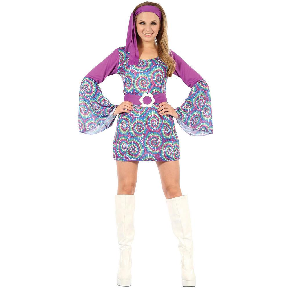 Groovy Psychedellic Hippy Lady Dress