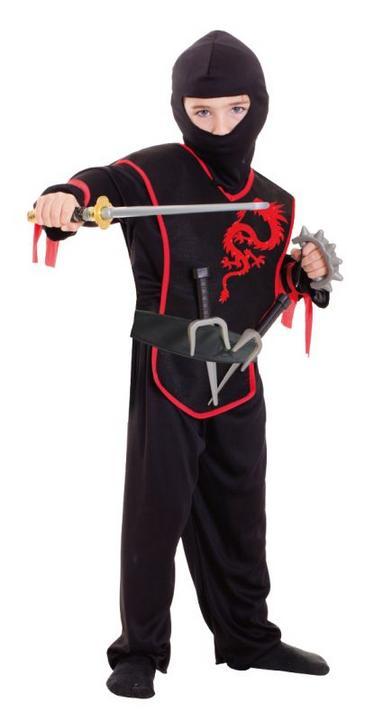 Boys Ninja Fancy Dress Costume & Accessories Thumbnail 1