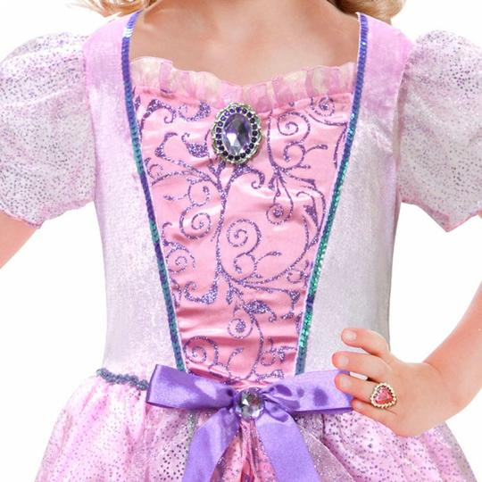 Girls Pale Pink Princess Costume Set fancy Dress Costume  Thumbnail 2
