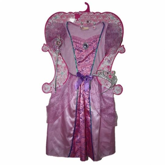 Girls Pale Pink Princess Costume Set fancy Dress Costume  Thumbnail 3
