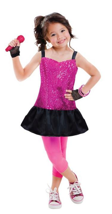 Girls Rock Star Fancy Dress Costume Thumbnail 1