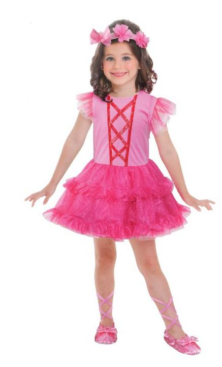 Girls Ballerina Fancy Dress Costume Thumbnail 1