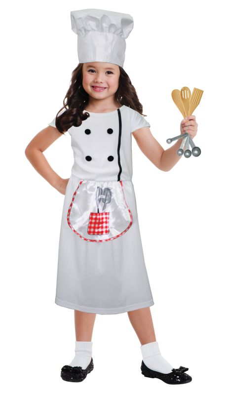 Girls Chef  Fancy Dress Costume
