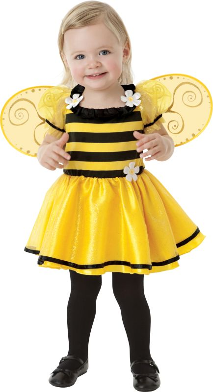 Girls Little Stinger Bee Fancy Dress costume