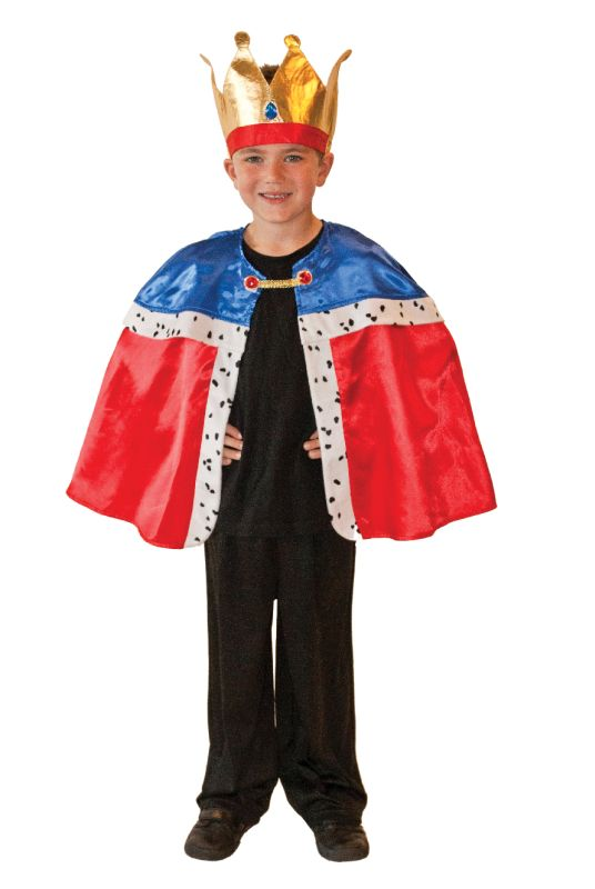 Boy's King Cape & Crown