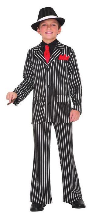 Boys Gangster Guy Fancy Dress Costume  Thumbnail 1
