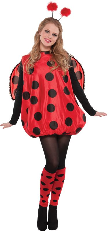 Lady bird Ladybug Costume Womens Fancy Dress Ladies Outfit Party Animal Insect