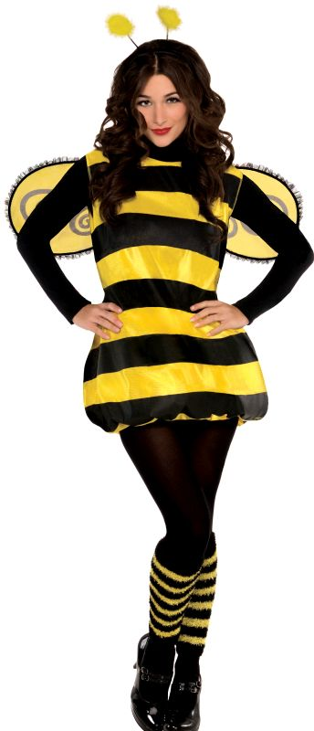 Bumble Bee Costume Womens Fancy Dress Ladies Outfit Party Animal Insect