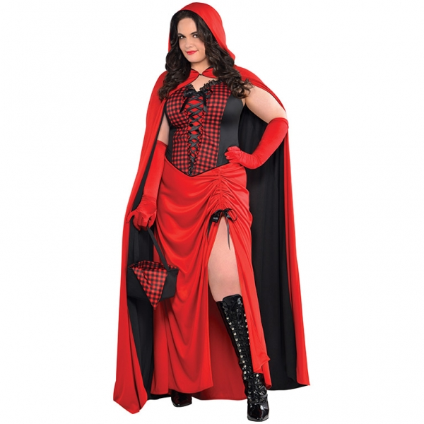 Ladies Riding Hood Enchantress Fancy Dress Costume  Plus Size