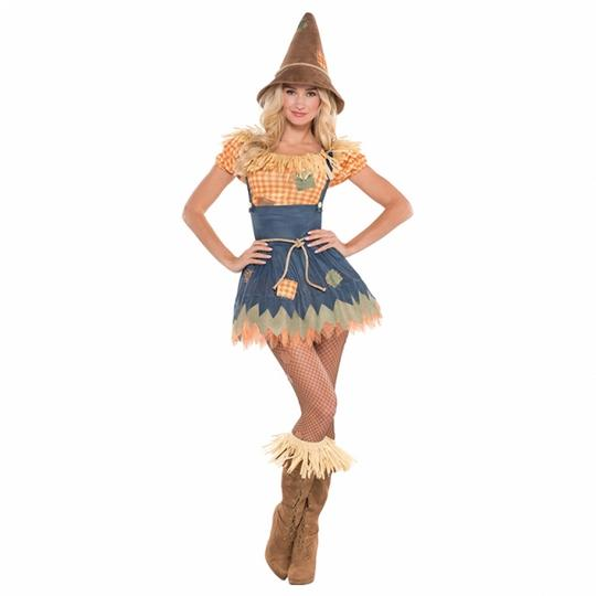 Deluxe Sexy Scarecrow Ladies Fancy Dress Costume Hen Party Outfit Size 18-20 Thumbnail 1