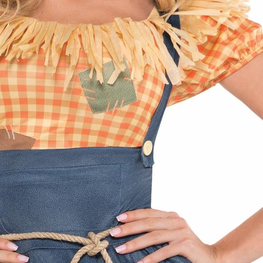 Deluxe Sexy Scarecrow Ladies Fancy Dress Costume Hen Party Outfit Size 18-20 Thumbnail 3