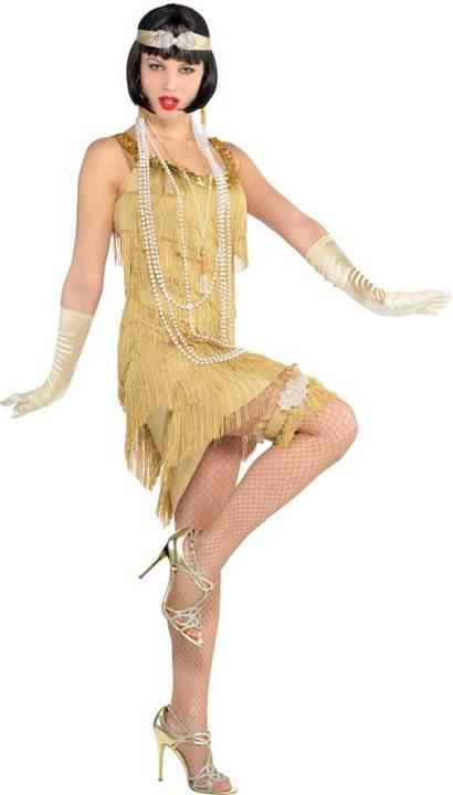 20's Flapper Costume Ladies Charleston Fancy Dress Hen Night Party Adult Outfit Thumbnail 1