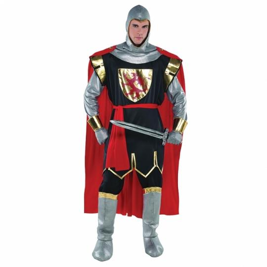 Men's Brave Crusader Knight Plus Size Fancy Dress Costume Thumbnail 1
